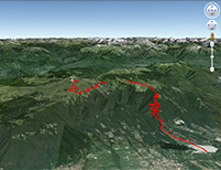 Google Earth Monte Grappa da Possagno (capra)