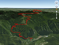 Google Earth Monte Grappa da Cismon
